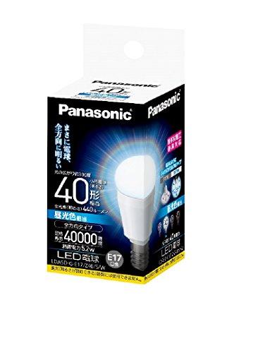 パナソニック LED電球 E17口金 電球40W形相当 昼光色相当(5.2W) 小型電球・全方向タイプ 密閉形器具対応 LDA5DGE17Z40SW