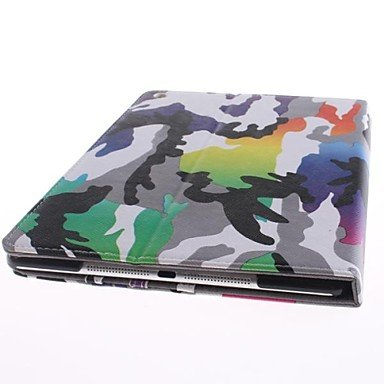 Camouflage Pattern PU Leather Full Body Case with Stand for iPad Air promo code 2016