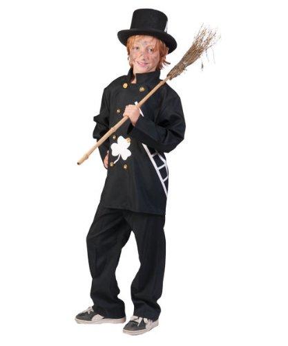 Pierro´s Kostüm Schornsteinfeger Kind Kinderkostüm Jungen Oberteil Hose Gr. 128 140 152 für Karneval, Fasching, Motto, Fete, Feier und Party / Beruf Schornsteinfeger
