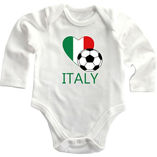 Italian Soccer Italy Futbol Football Infant Long Sleeve Baby Bodysuit One Piece 6 Months (Italian Baby Soccer compare prices)