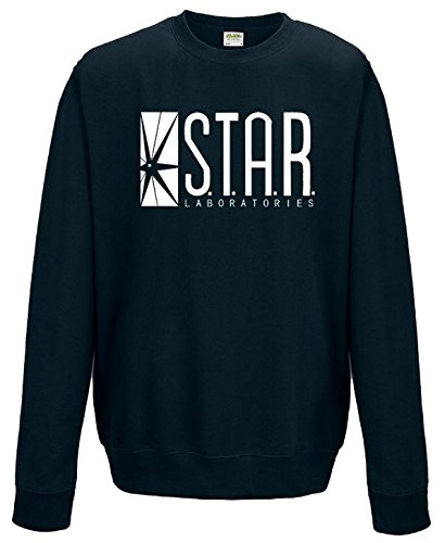 STAR LABS FLASH-FELPA MAGLIA A FORMA DI FRECCIA Oxford Navy Medium