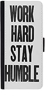 Snoogg Work Hard Stay Humbledesigner Protective Flip Case Cover For Samsung G...