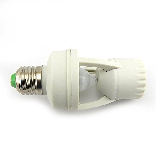 Cheapest Prices! E-Age Ajustable 360 Degree Infrared Motion PIR Sensor Automatic LED Light Lamp E27 ...