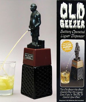 Old Geezer Peeing Liquor Dispenser