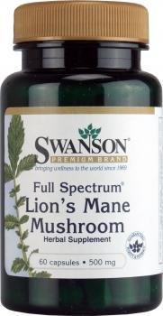 Swanson - Hericium Erinaceus (Lion's Mane Mushroom) 500mg, 60 Capsule - Full Spectrum® Mycelium Biomass