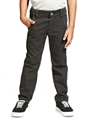Autograph Pure Cotton Adjustable Waist Checked Trousers