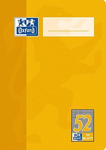 Oxford-Quaderno scuola, carta ottica 90g/m² Tipo 52 - a quadretti A6, 32 Blatt Confezione da 10