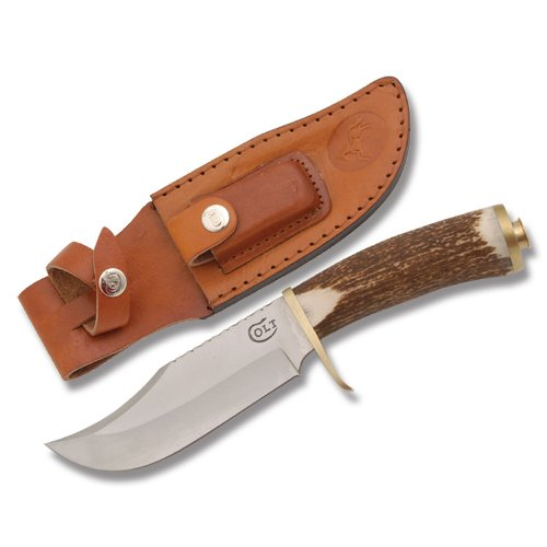 Colt Knife .45 Bowie Upswept Blade Leather Sheath