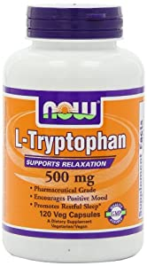 NOW Foods L-Tryptophan 500mg, 120 Vcaps