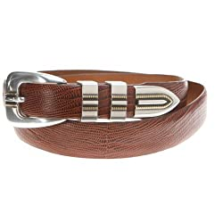 Johnston & Murphy Men's Lizard Grain Ranger Belt,Cognac,Size 32