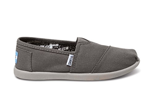 TOMS Kids's TOMS YOUTH CLASSICS ASH CANVAS SHOES 3 (ASH)