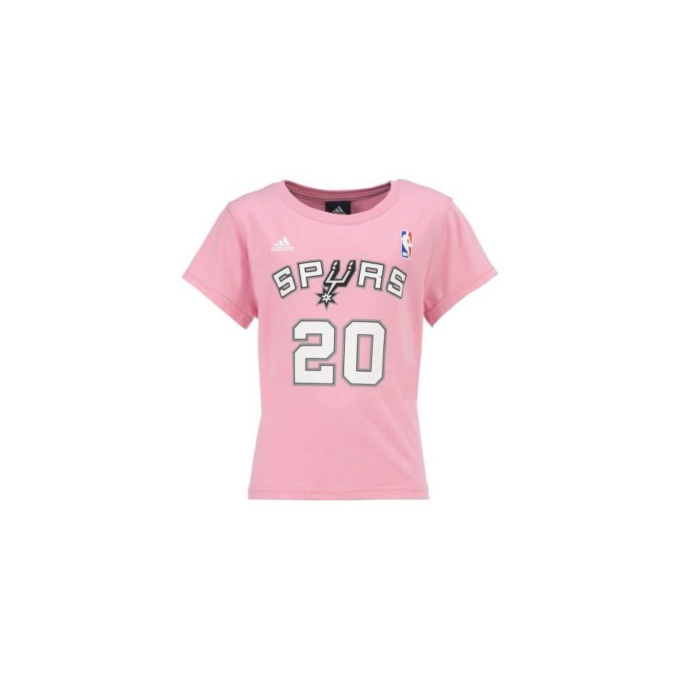 f0291a2cb Academy adidas Girls San Antonio Spurs Manu Ginobili #20 T shirt on ...