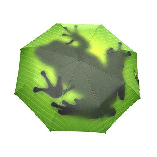 USAKI(ユサキ)おしゃれ 折りたたみ傘 3段 折畳み 晴雨兼用,かわいい 蛙 カエル,手動開閉 携帯用 軽量 三つ折り畳み レディース 子供用 メンズ かさ デザイン 13