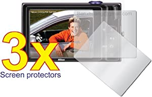 3x Nikon Coolpix S6100 S4100 Digital Camera Premium Clear LCD Screen Protector Cover Guard Shield Flim Kit, No cutting, Perfect fit with Full Protection!