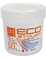 Ecoco Inc. - Eco Styler All Hair Types Styling Gel Krystal - Gel De Fixation Pour Tous Les Types De Cheveux - Volume : 473 ml.