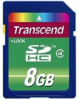 Transcend 8 Go Carte mémoire SDHC Classe 4 TS8GSDHC4E [Emballage « Déballer sans s'énerver par Amazon »]