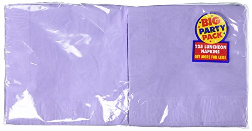 Amscan Big Party Pack 125 Count Luncheon Napkins, Lavender