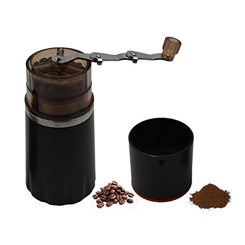 Joymee Manual Coffee Grinder for Coffee Bean and Spices, Adjustable Hand Crank Portable Mini Coffee Mill Slim Grinder for Espresso