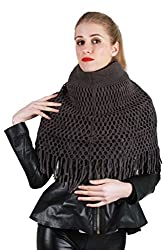 SXY! Women's Scarf (SXSZ14003_Dark Grey_Small)
