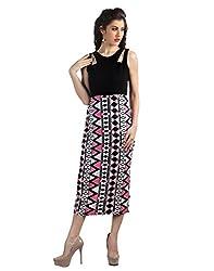 Vinegar Black and Pink Dress for Women_VSS4100_XS