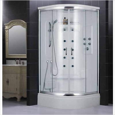 DreamLine SHJC-2140406-01 NIAGARA Jetted and Steam Shower, White and Chrome