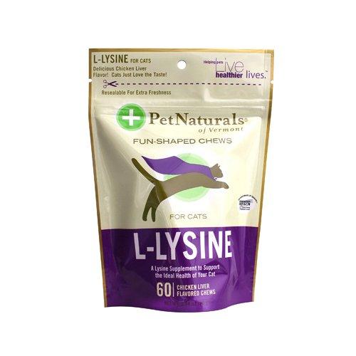 Pet Naturals Of Vermont L-Lysine For Cats Chicken Liver - 60 Chewables