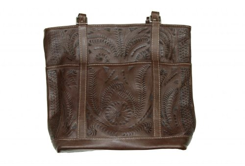 ropin-west-hand-tooled-leather-purse-one-size-brown