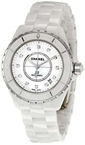Chanel Men's H1629 J12 Diamond White Dial Watch from Chanel