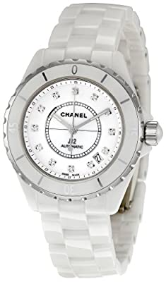 Chanel Men's H1629 J12 Diamond White Dial Watch