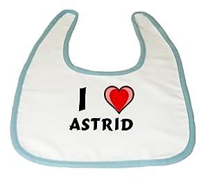 Amazon.com: Baby Bib with I Love Astrid (first name/surname/nickname