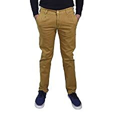 Rollister Men's Casual Pants (0094ll_Yellow_32)