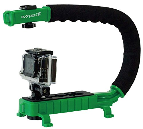Cam Caddie Scorpion Jr. Video Camera Stabilizing Handle with Included Smartphone and GoPro Compatible Mounts - Green (0CC-0100-JR-GRN) (Slow Mo Video compare prices)