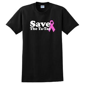 Save the Ta-Tas Short Sleeve T-Shirt Cancer Awareness Pink Ribbon Survivor Fight Boobies Tatas Breast Live Love Life Memorial Memory Short Sleeve Tee