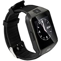 Micromax Canvas Viva A72 Bluetooth Smartwatch (Black) With Sim Card Support & Supporting Apps Like Twitter, Whats App, Facebook, Wrist Watch by JIYANSHI