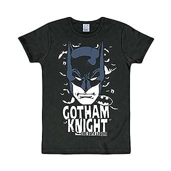LOGOSHIRT Retro Batman Comic T-Shirt GOTHAM KNIGHT Schwarz Gr. L