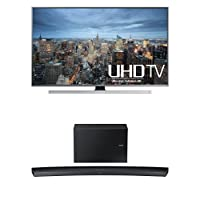 Samsung UN50JU7100 50-Inch TV with HW-J7500 Curved Soundbar from Samsung