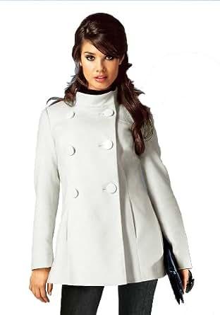 laura scott damen mantel flausch kurzmantel creme in gr e 44 polyester wei bekleidung. Black Bedroom Furniture Sets. Home Design Ideas