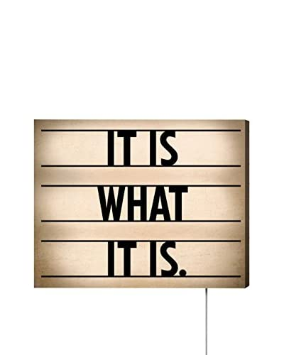 Oliver Gal Words Of Wisdom LED Canvas Lightbox