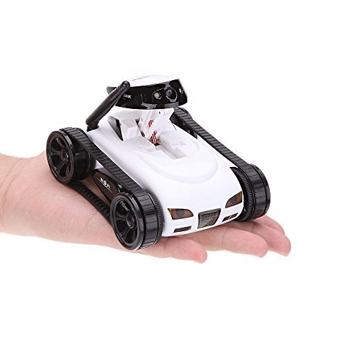 WildGrow Wireless Mini RC Tank with 0.3MP HD Camera 777-270 Wifi Remote Control by iPhone, iPad, Android-White (Remote Control Camera Car compare prices)