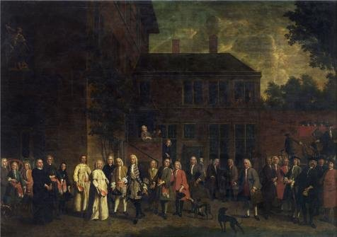 Oil Painting 'Jan Jozef Horemans II - The Members Of The Fencer's Guild Welcome The Abbot Of Sint-Michiels, 1746' Printing On High Quality Polyster Canvas , 16x23 Inch / 41x58 Cm ,the Best Wall Art Artwork And Home Artwork And Gifts Is This Beautiful Art Decorative Canvas Prints (Dirt Evil Vacuum Cleaner compare prices)
