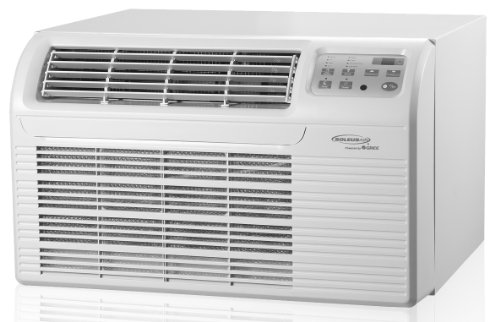 Big Save! 12,000 BTU Air Conditioner with Electric Heat - Dehumidifier - 3 Fan Speeds - Energy Saver...