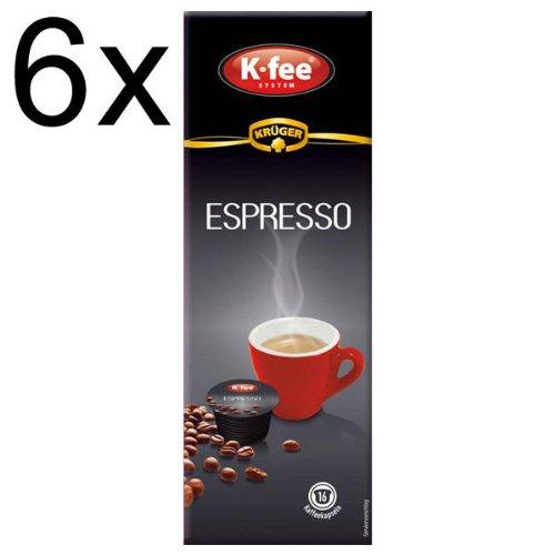 Buy K-fee System Espresso, Pack of 6, 6 x 16 Capsules - Krüger GmbH & Co. KG