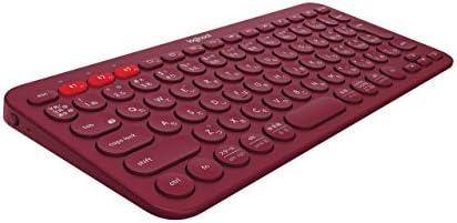 Logicool ロジクール K380 Bluetooth マルチデバイス キーボード (マルチOS: Windows, Mac, iOS, Android, Chrome OS 対応) レッド K380RD