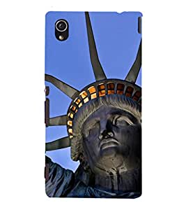 EPICCASE Statue of Liberty Mobile Back Case Cover For Sony Xperia M4 Aqua Dual (Designer Case)