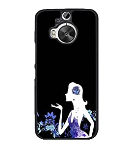 Girl Blowing Kisses 2D Hard Polycarbonate Designer Back Case Cover for HTC One M9 Plus :: HTC One M9+ :: HTC One M9+ Supreme Camera