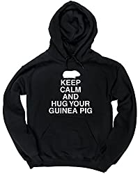 HippoWarehouse Keep calm and hug your guinea pig unisex Hoodie hooded top