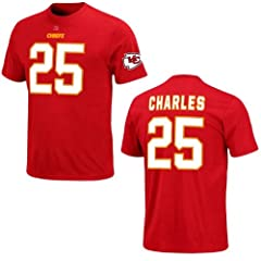 Kansas City Chiefs Jamaal Charles Red Eligible Receiver Name and Number T-Shirt by VF