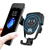 Wireless Car Charger Mount, Auto-Clamping 10W Qi Fast Charging, The Most Classical Durable Air Vent Phone Holder for iPhone 11 Pro Max/XS/XR 8 Plus, Samsung Galaxy S10 S9 S8 Note 10/9 Black