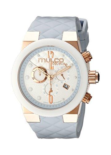 Mulco MW5Mujer, 2552-413Couture analógica pantalla azul de cuarzo suizo reloj