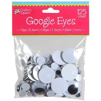 Crafters Square Educational Products - Crafter's Square Google Eyes - 3 size assortment - 125 Count - 125 Count